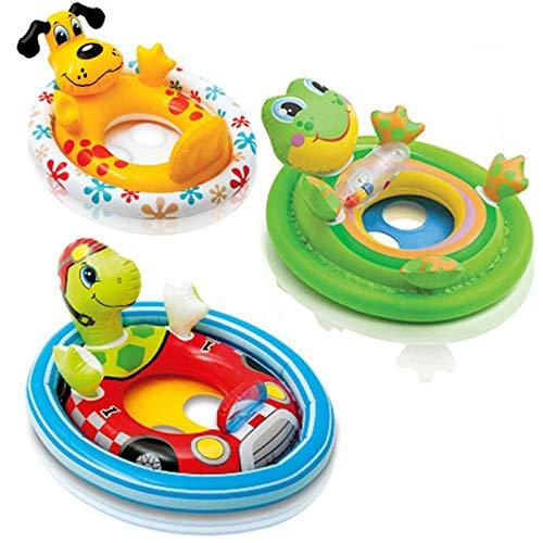 XDLH Piscina plegable, colchón inflable de agua, anillo de natación inflable, piscina infantil para niños, pato, conejo, tortuga flotante cama modelo fiesta juguetes