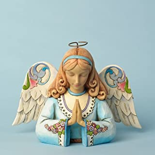 Enesco Jim Shore Heartwood Creek Angel Praying Figurine, 5.75-Inch