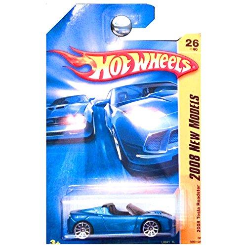Hot Wheels 2008 New Models Tesla Roadster Convertible Blue Metallic 1:64 (approx 3')