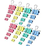 160 PCS Binder Clips Paper Clamps Assorted 4 Sizes Large, Medium, Small and Micro in One Pack