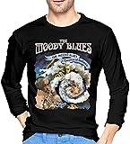 Photo de Ghghdfysdds Mens The Moody Blues A Question of Balance Long Sleeve T-Shirts Black,Black,X-Large par