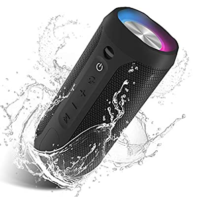 EDUPLINK Portable Bluetooth Speaker Waterproof IPX7 Wireless Speaker with 20W Louder Stereo Sound Outdoor Speakers with Party Lights TWS Pairing for Home Party