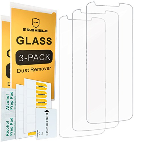 [3-PACK]- Mr.Shield Designed For Moto E5 Plus [Tempered Glass] Screen Protector with Lifetime Replacement