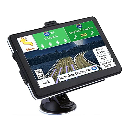 GPS Coches, 7 Pulgadas Navegador GPS para Coche, Gratis Mapa de Europa Toda la Vida, Recordatorio Voz Inteligente y Mapa de navegador de por Vida de la UE 48 países 2021