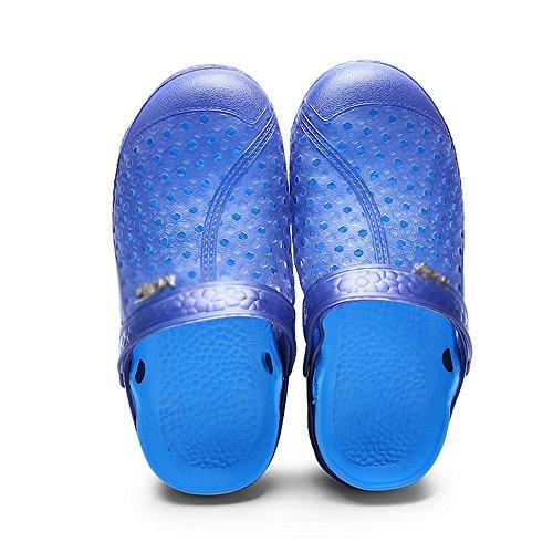 MAZHONG basses Sandales d'été Baotou Sandals Hole Shoes Sandales de plage antidérapantes pour hommes ( Couleur : Bleu , taille : EU40/UK7/CN41 )