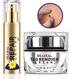 Reazeal Mole and Skin Tag Remover Cream and Repair Lotion Kit, All Natural Skin Tag Cream, Quick Acting Medical-Grade, Safe & Effective Formula