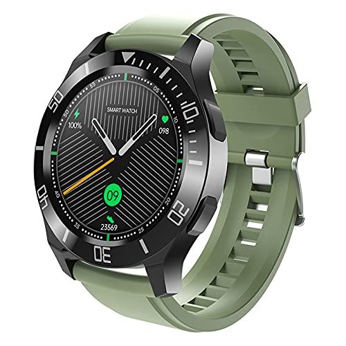 FMSBSC Reloj Inteligente para teléfonos Android iOS, Llamadas Bluetooth, Control de música, Smartwatch con Monitor de Sueño, Presión Arterial, Pulsómetros, Pulsera Actividad Inteligente,Verde