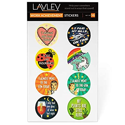 Adult Achievement Stickers - Set of 16 - Perfect Funny Gifts, White Elephant Gift, or Christmas Present