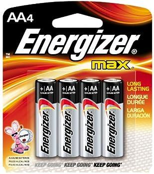 2 Pack Energizer E91BP-4 AA Alkaline Batteries 4 Batteries per Package