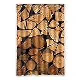 dalliy Custom Holz Duschvorhang Polyester 120cm x 183cm, Polyester, a, 48