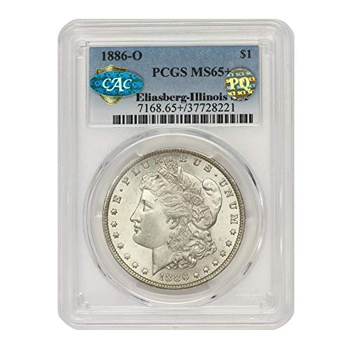 1886 O American Silver Morgan Dollar MS-65+ PQ Approved Illinois Set by CoinFolio $1 MS65+ PCGS/CAC