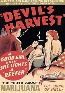 Affiche Prints AD82 1950's Devils Harvest Marijuana Anti Drugs Film Movie Advertisement Poster - A3 (432 x 305mm) 16.5