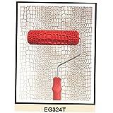 7inch Rouleau de Peinture en Relief Motif de Peau de Crocodile avec Poignée Pour Décoration Murale