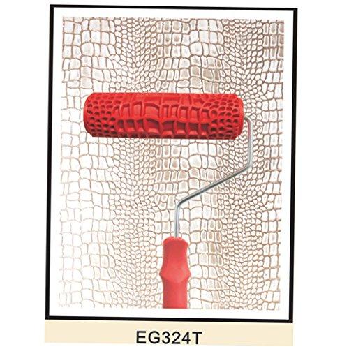 Homyl Putz Strukturwalze Strukturrolle Schlingen Relief 7-Zoll Struktur Kreativ Roller mit Bügel - Stil 11
