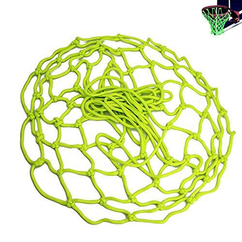 gotyou Red de Baloncesto Fluorescente Verde,Red de Baloncesto Profesional para Exteriores,Red de aro Estándar de Nylon Trenzado Autoluminosa,Red de Baloncesto para Niños Adultos (45 cm)