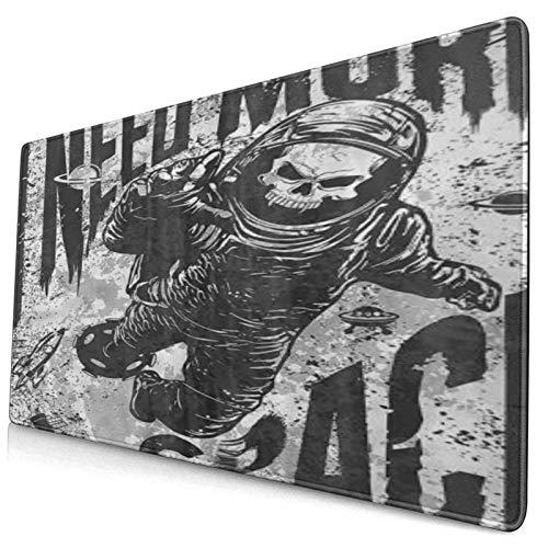 HUAYEXI Alfombrilla Gaming,Espacio Exterior Traje De Astronauta Cráneo Tropical,con Base de Goma Antideslizante,750×400×3mm