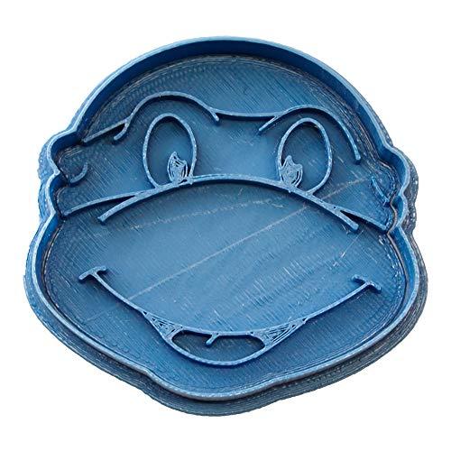 Cuticuter Tortuga Ninja Cortador de Galletas, Azul, 8x7x1.5 cm