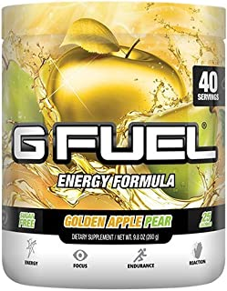 G Fuel Golden Apple Pear Tub (40 Servings) Elite Energy and Endurance Formula Net WT 9.8 oz
