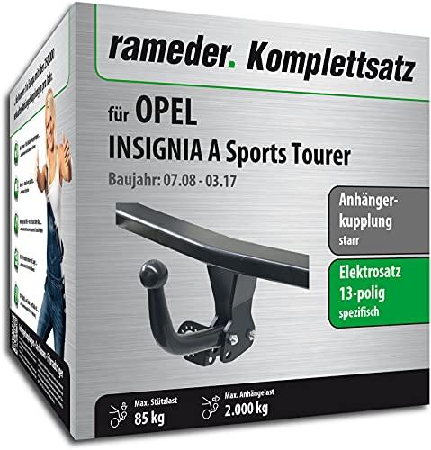 Rameder Set, Anhängerkupplung starr + 13pol Elektrik kompatibel für OPEL Insignia A Sports Tourer (143083-07861-1)