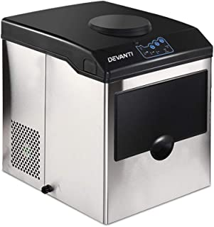 DEVANTi Ice Maker Portable Commercial Ice Cube Machine with Water Dispenser Suitable for Home Restaurant