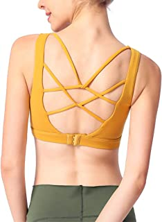 TimesBeauty Sports Bras for Women Padded Workouts Top Yoga Gym Clothes High Impact Activewear Back Closure