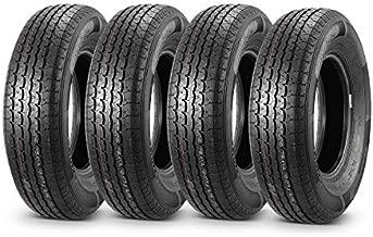 MaxAuto Trailer Tires 205/75R14 8 Ply Load Range D Radial Heavy Duty, Set of 4