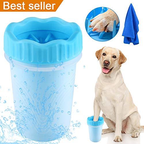 TTCOTOKE Limpiador de Pata de Perro de Paw Mascota portátil Limpiador Lavado de pies Copa para Mascotas (Azul)