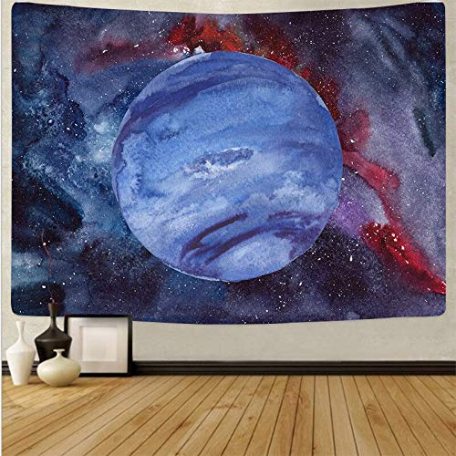 Impresión de tapiz de bosque sol luna cielo colgante de pared tela de fondo bohemio arte de pared tapiz de toalla de playa A8 150x200cm