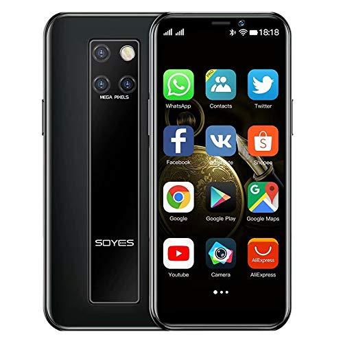 Mini-Smartphone 3,5-Zoll-HD-Bildschirm 4G Dual-SIM-Handy Android OS 9.0 Quad-Core-GPS entsperrtes Handy 3GB+32GB(schwarz