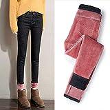 yunxiang Plus Jeans in Velluto a Vita Alta Pantaloni da Donna Pantaloni aMatita di JeansVintage Caldi Elastici SottiliJeans Skinny Spessi Inverno