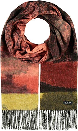FRAAS Cashmink®-Schal mit floralem Muster - Made in Germany für Damen Lachs