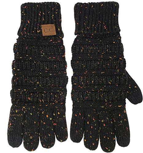 G2-6033-06 Lined Texting Gloves: Confetti Black