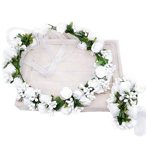 dressfan flower garland headband flower