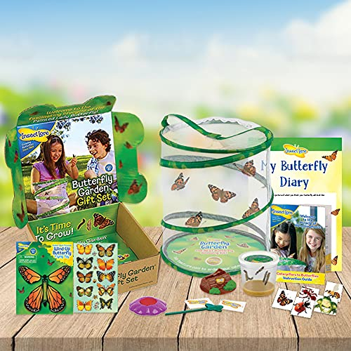 Insect Lore Butterfly Garden GIFT SET with 3-5 LIVE Caterpillars