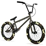 "Elite 20' & 18"" BMX Bicycle Destro Model Freestyle Bike - 4 Piece Cr-MO Handlebar (18' Grey)"