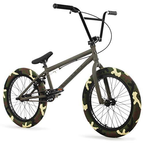 """Elite BMX Bicycle 20"""" & 18"""" Destro Model Freestyle Bike - 3 Piece Crank (Army Camo, 20"""")"""
