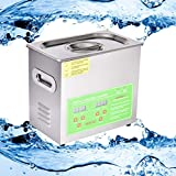 Peitten Ultrasonic Cleaning Machine, 3L Ultrasonic Cleaner with Digital Timer and Heater, Jewelry Cleaner, Home Ultrasonic Cavitation Machine for Glasses Watches Labs Electronic Dental Tools More