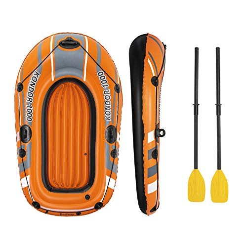 Bestway 61' x 37'/1.55m x 93cm Kondor 1000 Set Barcos, Unisex niños, Naranja