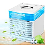 Beaulyn Portable Air Conditioner, Mini Portable Ac Fan with 3 Wind Speeds & 7 Colors Night Light & Humidify, Evaporative Air Cooler Personal Small Air Conditioners for Home Office Room
