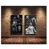 Suuyar Lionel Messi, Cristiano Ronaldo Gemälde Druck auf