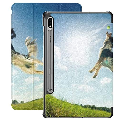 Funda para Galaxy Tab S7 Funda Delgada y Ligera con Soporte para Tableta Samsung Galaxy Tab S7 de 11 Pulgadas Sm-t870 Sm-t875 Sm-t878 2020 Lanzamiento, Bola de Captura de Perros