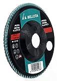 Bellota 50503-40 DISCO LAMINAS BASE POLIAMIDA DESBASTE PIEDRA - CARBURO DE SILICIO (SIC40) 115MM, Standard, SIC 40