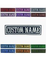 BIHU Parche de Nombre Personalizado, Parches Militares Personalizados 2 Piezas, Etiquetas Bordadas Personalizadas con Nombre, Parche Táctico con Nombre Moral para Uniforme de Camuflaje