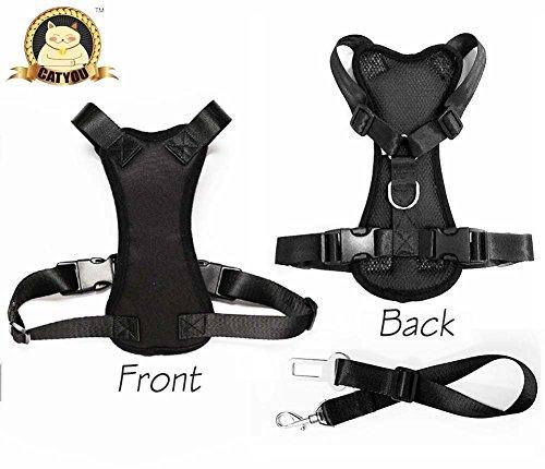 CatYou Durable Pet Dog Car Safety Harness + Nylon Seat Belt Restraint