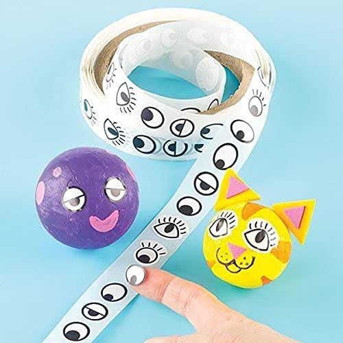 Baker Ross Augen-Aufkleber im Vorteilspack zum Basteln von Figuren für Kinder - 1000 Stück