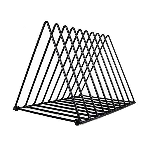 ZHBH CD triangel displaystativ järn LP vinylskivor lagringsställ video butiker media företag skiva utställning ram (färg: svart)