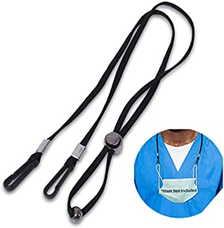 10 Pack Adjustable Lanyard Comfortable Around The Neck Double Clip Lanyards Holder for Student Kids Adult