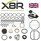 X8R EAS AIR SUSPENSION COMPRESSOR PISTON SEAL/PISTON LINER AND VALVE BLOCK O-RINGS DIAPHRAGM KIT COMPATIBLE WITH RR CLASSIC COUNTY & RR P38 MODELS WITH EAS PART# X8R38