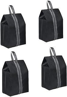 YaptheS Travel Portable Handle Waterproof Shoes Handbag Bag net Shoes Organizer Oxford Cloth Storage Bag Zipper Shoe Bag Green