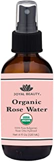 Rose Water USDA Organic Toner Spray for Face Hair Skin by Joyal Beauty. 100% Pure Bulgarian Rose Damascena Steam Distilled...